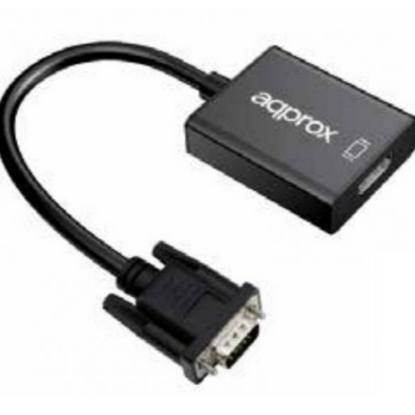 HDMI–VGA Audio Adapter approx! APPC25 3,5 mm Micro USB 20 cm 720p/1080i/1080p