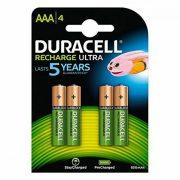 Újratölthető akkumulátorok DURACELL DURDLLR03P4B HR03 AAA 800 mAh (4 pcs)