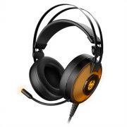 Gamer Headset Mikrofonnal Krom Kayle USB Fekete Narancszín
