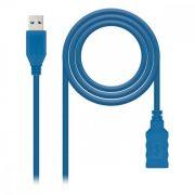 USB 2.0-kábel NANOCABLE 10.01.0901-BL