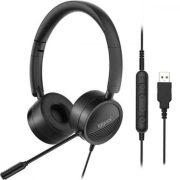 Fejhallgató Mikrofonnal iggual Dual Tech Fekete