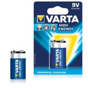 Alkáli Elem Varta 6LR61 9 V 580 mAh High Energy Kék