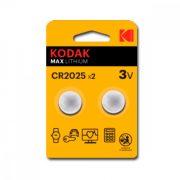 CR2025 lítium Kodak ULTRA MAX LITHIUM 3V (2 uds)