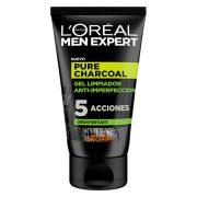 Tisztító Arcgél Pure Charcoal L'Oreal Make Up (100 ml)