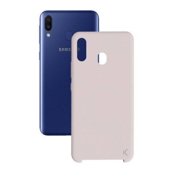 Mobiltelefontartó Samsung Galaxy M20 KSIX Soft Rózsaszín