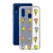 Mobiltelefontartó Samsung Galaxy A20 KSIX Flex TPU Átlátszó