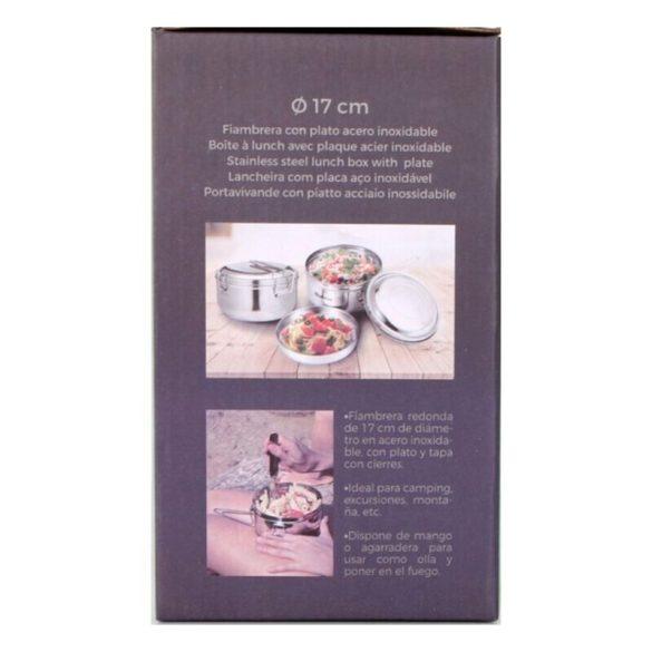 Kerek ebéddoboz fedéllel Quttin Rozsdamentes acél (Ø 17 cm)
