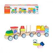 Ügyességi játék kisgyerekeknek 41 cm Vonat Fa (18+ hónapos kor)