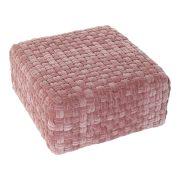 Párna DKD Home Decor Rózsaszín Bársony Pamut (60 x 60 x 32.5 cm)
