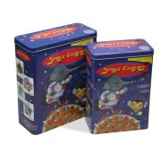 Doboz Space Cereals Fém Vintage (2 Darabok) (10,5 x 26,5 x 23,4 cm)