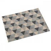 Tányéralátét Háromszög Szürke Poliészter (36 x 0,5 x 48 cm)