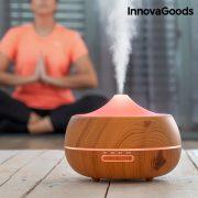 InnovaGoods LED Wooden-Effect Párásító Aroma Diffúzor