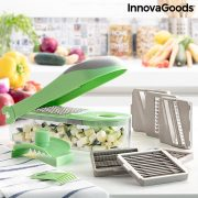 7 az 1-ben zöldségdaraboló, reszelő és mandolin receptekkel és kiegészítőkkel Choppie Expert InnovaGoods