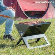Összecsukható hordozható grillsütő faszénnel való használatra FoldyQ InnovaGoods