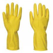 Háztartási latex kesztyű - sárga L