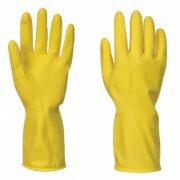 Háztartási latex kesztyű - sárga XL